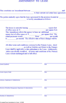 Lease Amendment Form