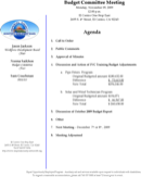 Budget Meeting Agenda Templates