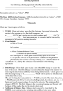 Download Catering Contract Template for Free - TidyForm
