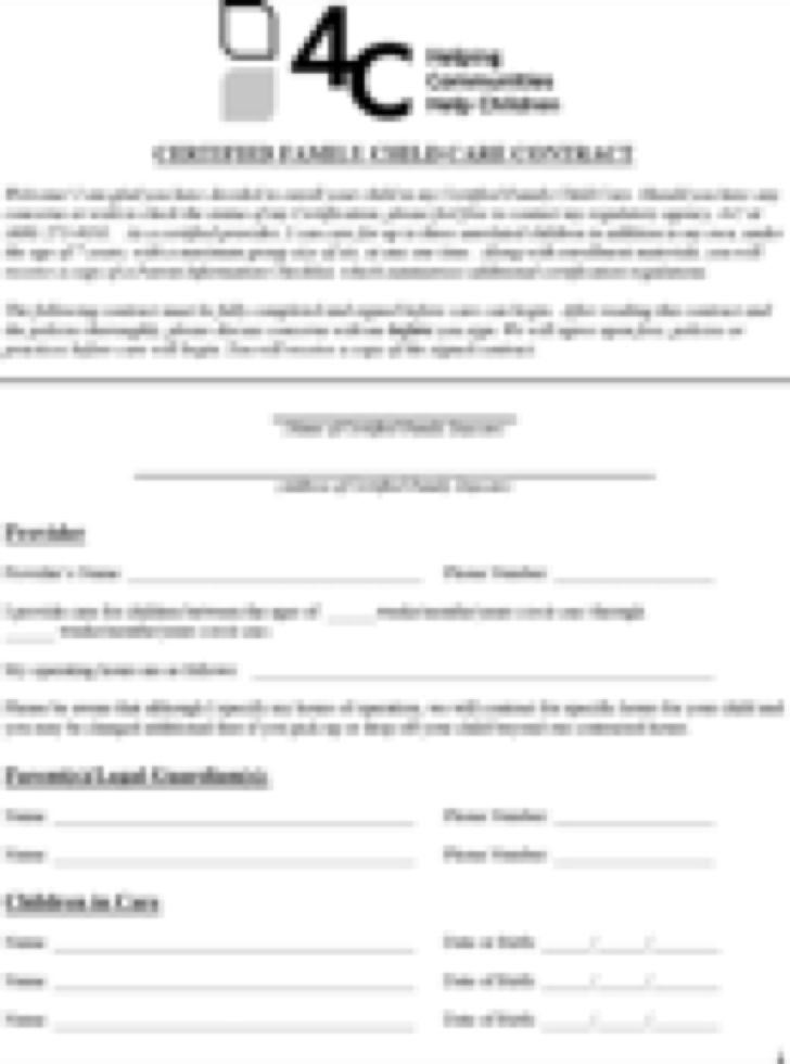 The Contract Template in PDF, Word, Excel format are free for you ...