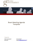 Company Meeting Agenda Templates