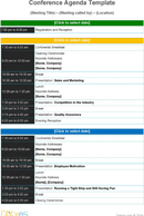 The Conference Agenda Template in PDF, Word, Excel format are free ...