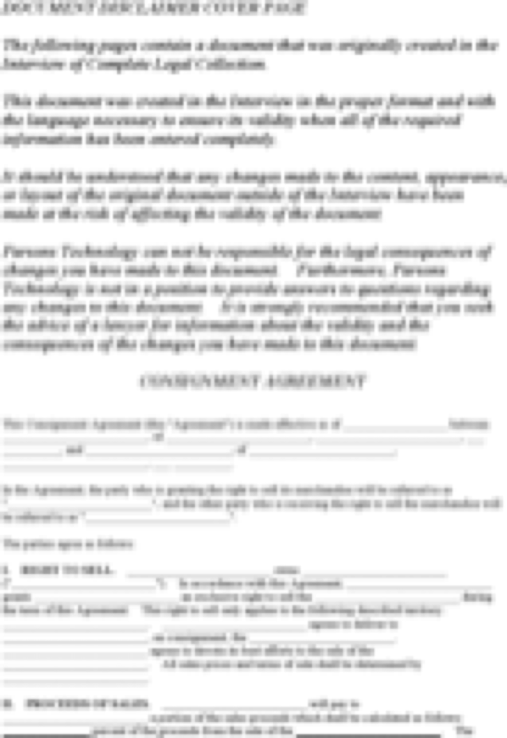 Consignment Contract Template Download Free Forms and Samples for – Consignment Form Template