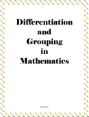 Differentiated Instruction Templates
