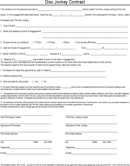 Disc Jockey Contract Form