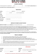 the dj contract template in pdf, word, excel format are free for, Invoice templates