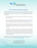 Board of Directors Meeting Agenda Templates