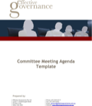 Committee Meeting Agenda Templates