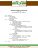 Marketing Meeting Agenda Templates