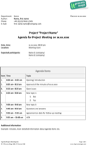 Management Meeting Agenda Templates