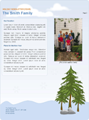 Family Holiday Newsletter Page 2