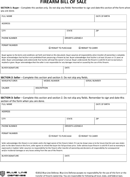 Download Firearm Bill of Sale Form Templates for Free - TidyForm