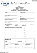 business mileage template