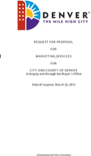 Marketing Request For Proposal Pdf
