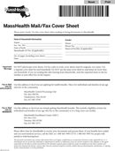 Masshealth Fax Cover Sheet