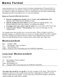 Business Memo Template