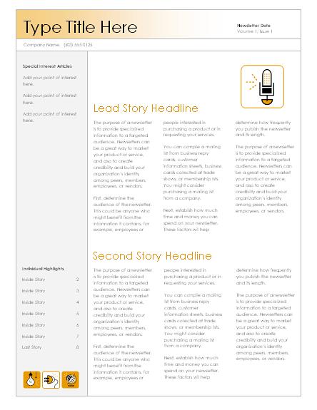 Newsletter (Accessory design, 4-col.)