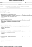 download presentation evaluation form templates for free - tidyform, Powerpoint templates
