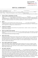 Printable Rental Agreement Templates