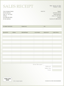 Customer Receipt Template