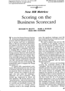 Business Scorecard Templates