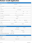 Simple Rental Application Form