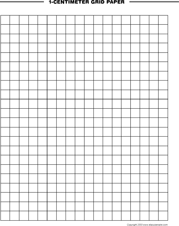 Download 1-Centimeter Grid Paper for Free - TidyForm
