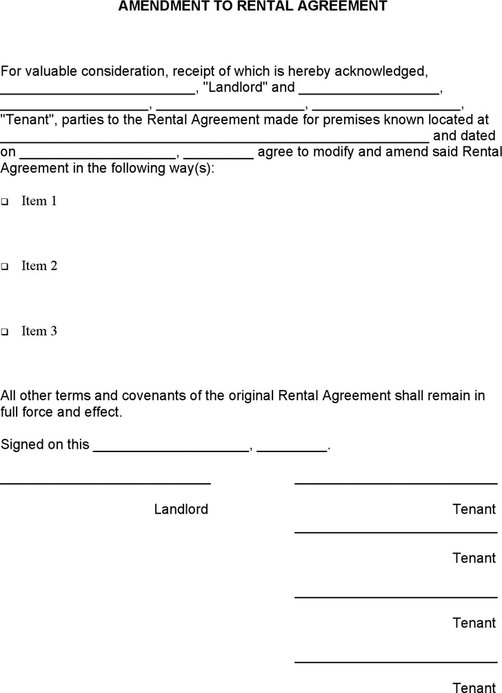More than 300 professional rent and lease templates in Word Excel – Tenant Lease Form