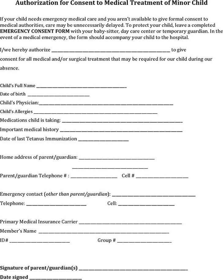 Authorization Letter Accompany Child sample cover letter – Sample Medical Authorization Letter