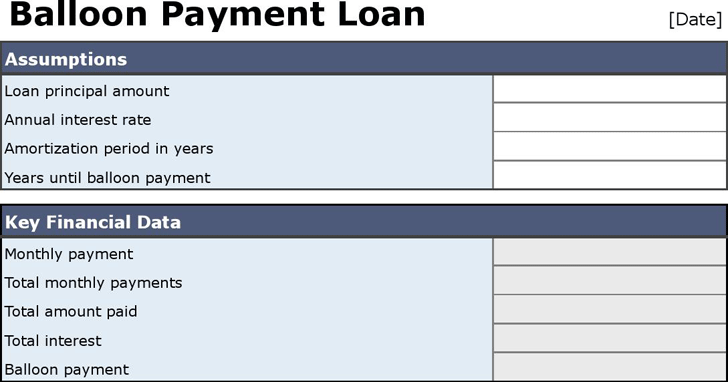 The Balloon Loan Calculator 2 can help you make a professional and – Balloon Loan Calculator
