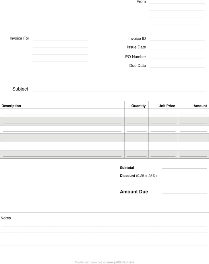 The Blank Invoice Template 1 can help you make a professional and – Blank Invoice Template
