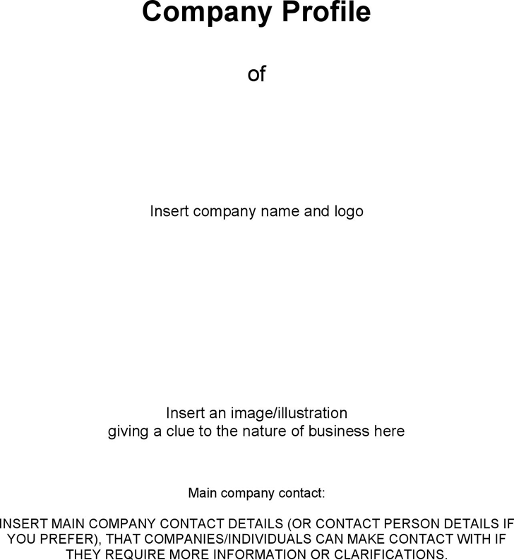 The Business Company Profile Template Can Help You Make A