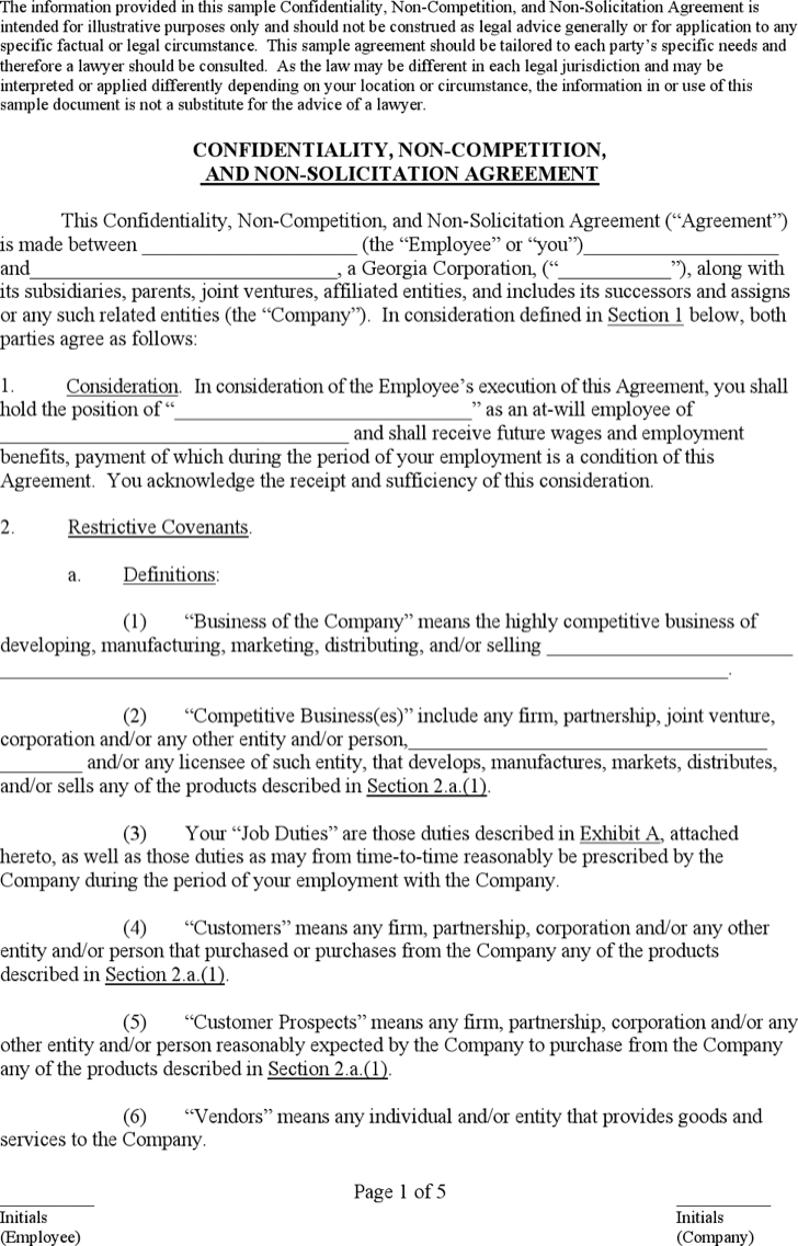 business non compete agreement pdf page s business non compete agreement