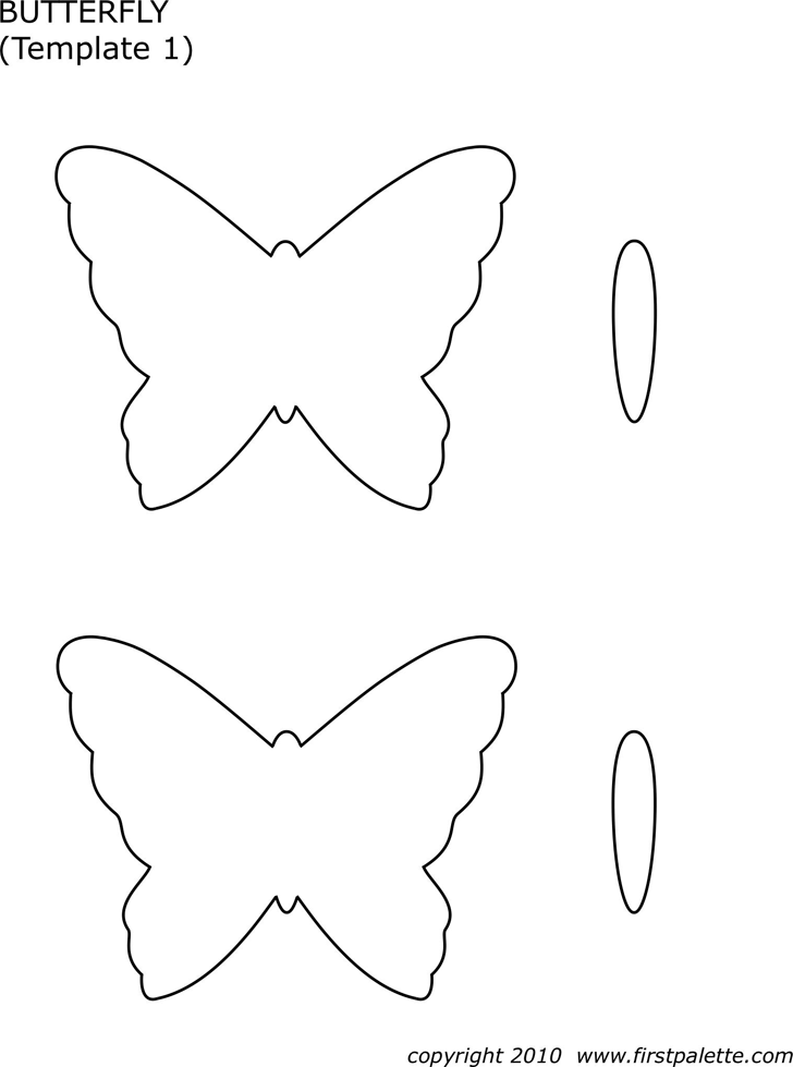 Download butterfly template 1 for free tidyform for Butterfly template pdf
