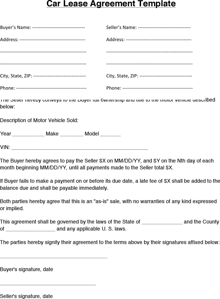 doc450580 simple lease agreement free 17 best images about free – Auto Rental and Lease Form