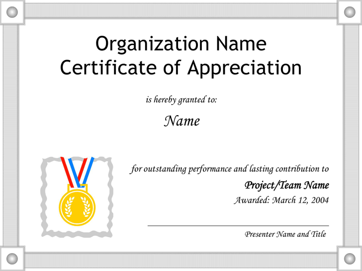 Certificate Of Appreciation Examples Sample Appreciation Letter – Certificate of Appreciation Wording Examples