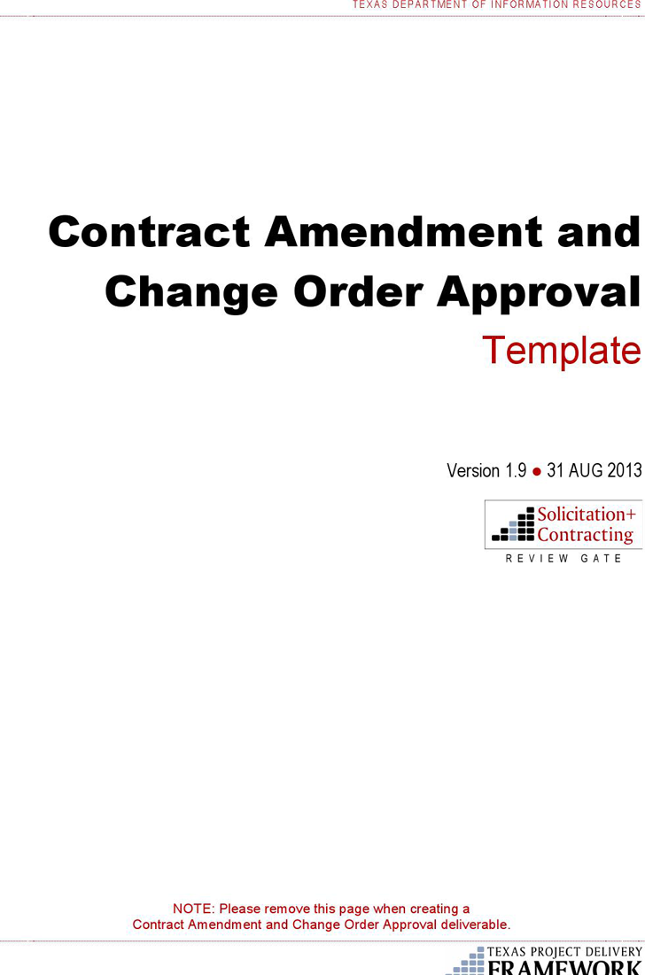 The Change Order Template can help you make a professional and – Change Order Template