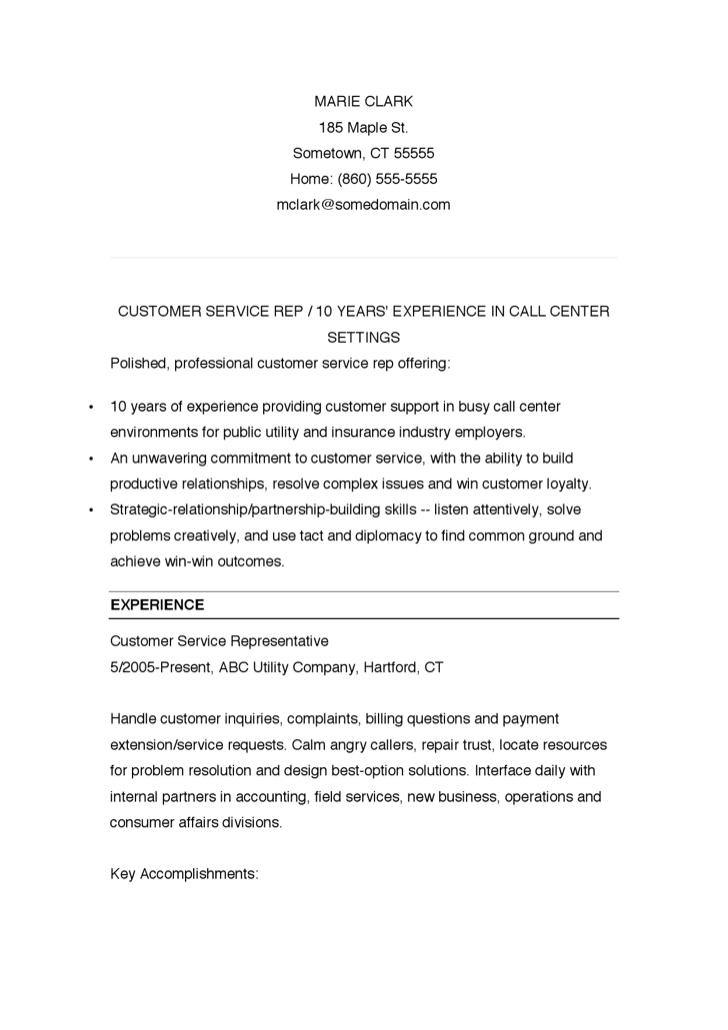Best Financial Customer Service Representative Resume Example Aaaaeroincus  Personable Customer Service Resume Samples Amp Resume Template  Customer Service Resume Template