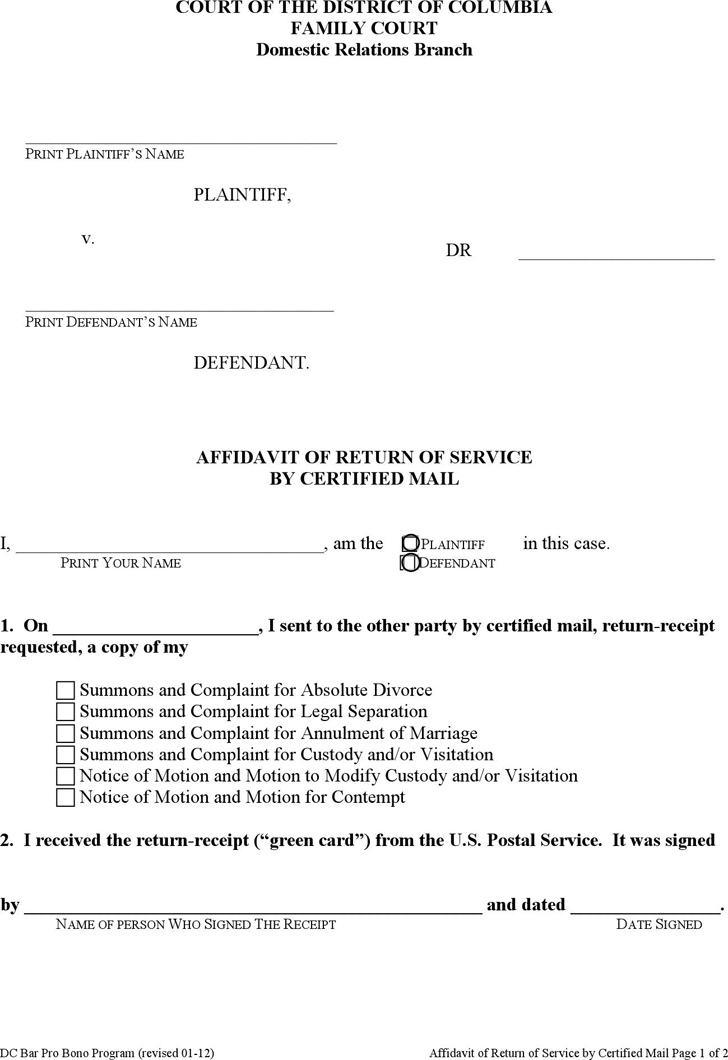 Free General Affidavit Form Download Affidavit Forms Free Free – Affidavit Forms Free
