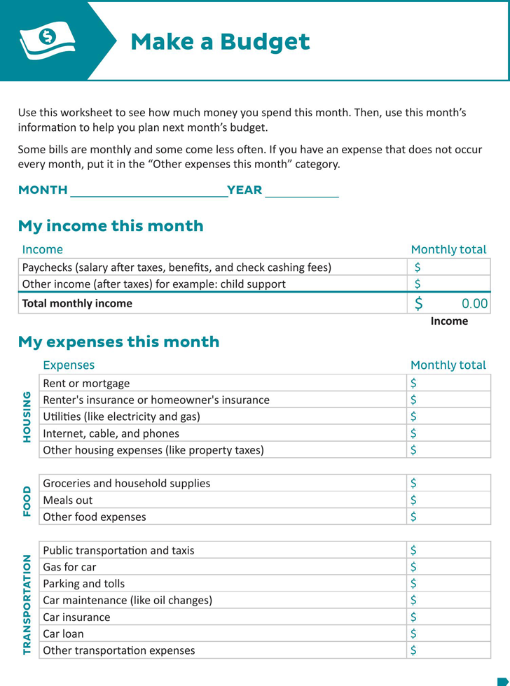 The Downloadable Budget Worksheet can help you make a professional – Budget Form