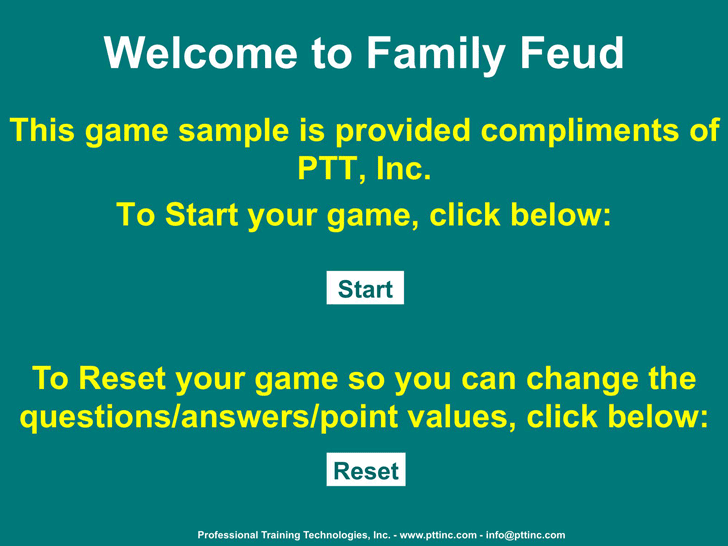 download family feud powerpoint template 2 for free - tidyform, Powerpoint templates