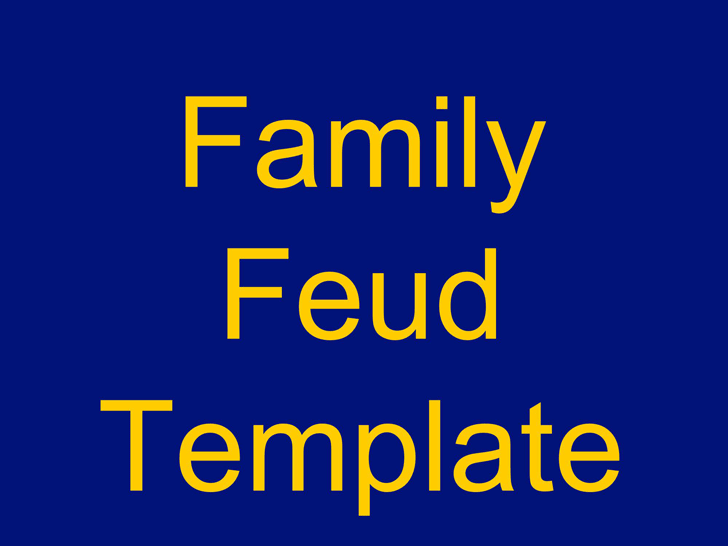 download family feud powerpoint template 3 for free - tidyform, Modern powerpoint