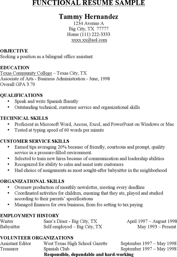download functional resume sample for free tidyform