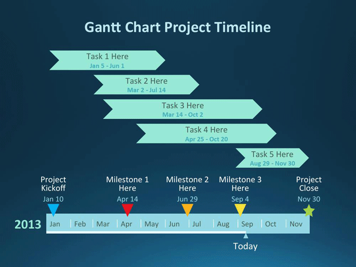 Gantt Chart Project Template for PowerPoint