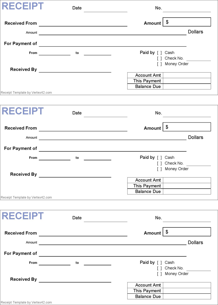 Download Generic Receipt Template for Free - TidyForm