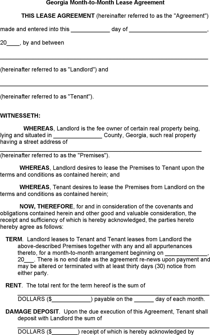 Doc581747 Tenancy Agreement Form Free Blank Tenancy Agreement – Tenant Agreement Form Free