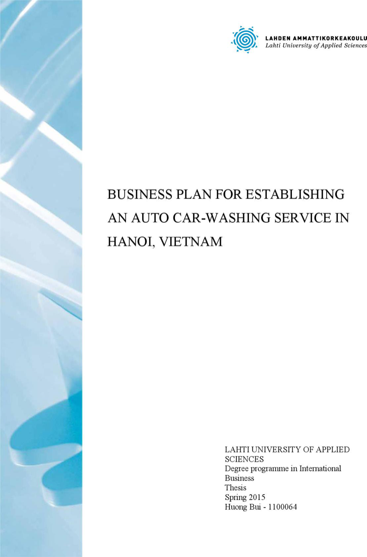 Automatic Car Wash Business Plan