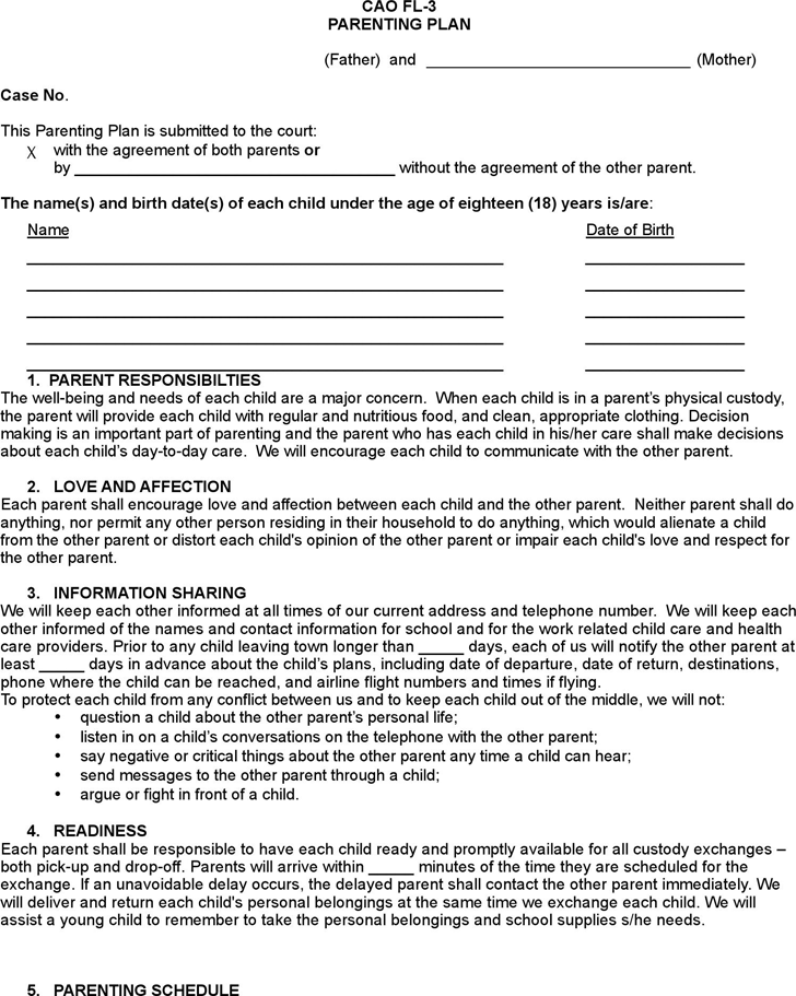 The Idaho Parenting Plan Form can help you make a professional and ...