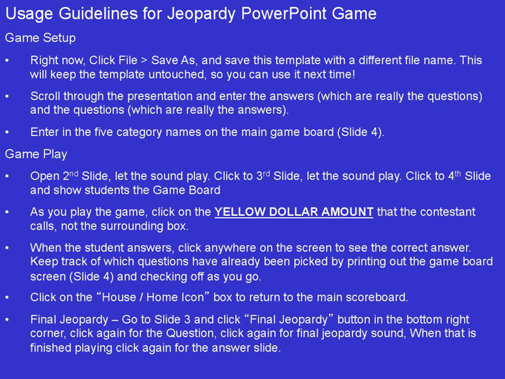 the jeopardy powerpoint template with sound can help you make a, Powerpoint