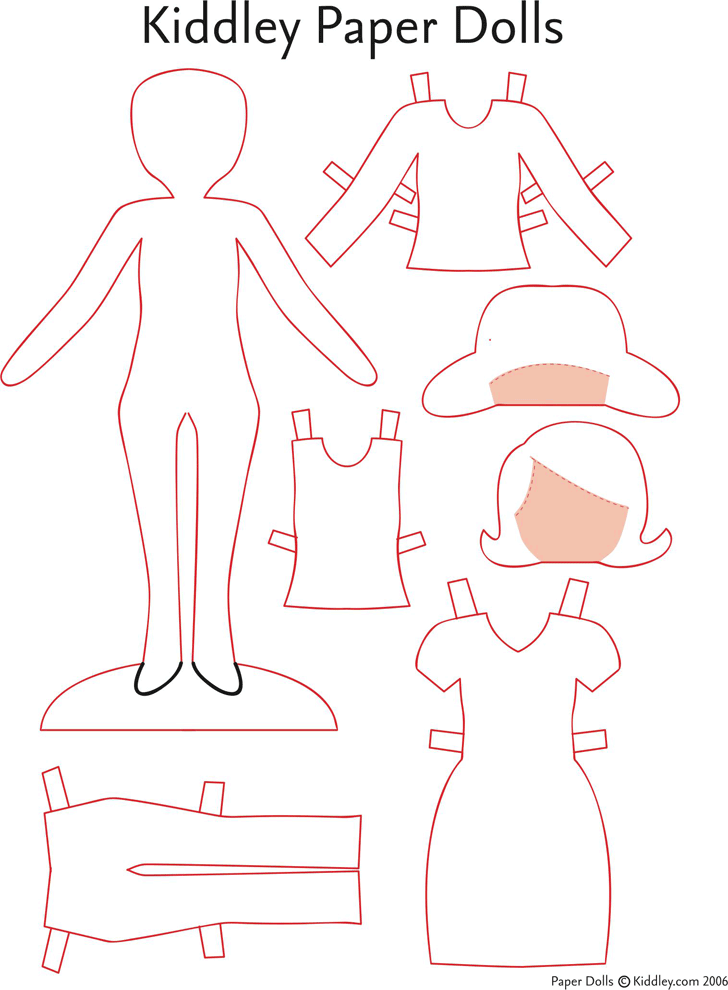 Download Kiddley Paper Dolls For Free